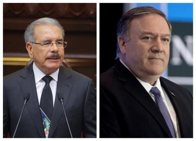 Presidente Medina dice a Pompeo no ha decidido si buscará reelección; actuará conforme a Constitución y la ley. (Foto fuente externa).