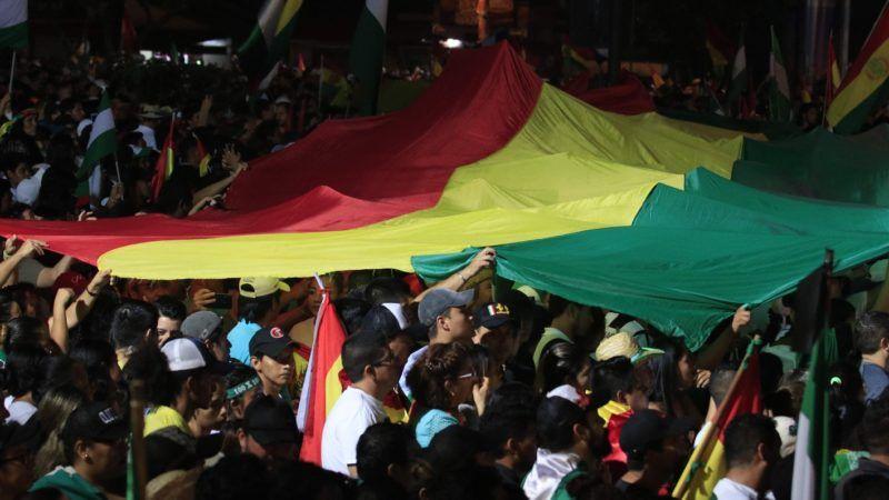 Continúan las protestas contra Evo en calles Bolivia (Fuente: EFE/Juan Carlos Torrejón).