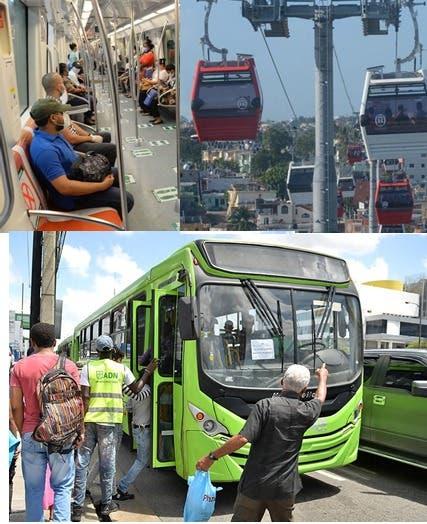 Nuevos horarios del Metro, El Teléferico y la OMSA. Collage fuente externa.