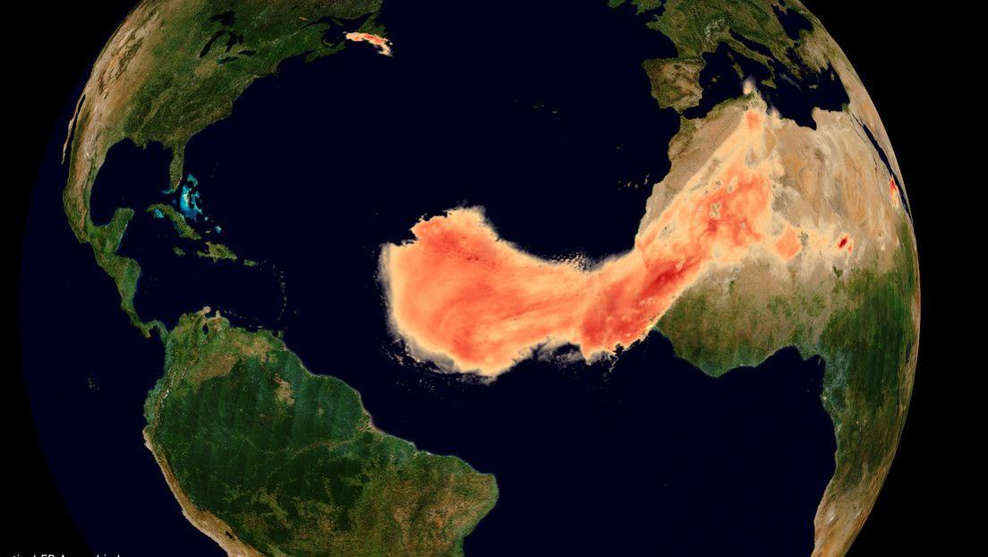 Cada verano, el viento transporta grandes cantidades de partículas de polvo del desierto del Sáhara a través del océano Atlántico. Un video publicado la semana pasada por la Agencia Espacial Europea (ESA) en su canal de YouTube muestra la extensión de la columna de arena de este año, bautizada como 'Godzilla'. En las imágenes, captadas por los satélites espaciales Copernicus Sentinel y Aeolus entre el 1 y 26 de junio, se puede ver cómo la masiva nube de polvo recorrió unos 8.000 kilómetros y llegó hasta el Caribe, América del Sur y EE.UU. Según explicó el estadounidense Laboratorio Meteorológico y Oceanográfico del Atlántico, normalmente, esas masas de arena se dispersan en la atmósfera y se hunden en el Atlántico antes de llegar a las Américas. Sin embargo, 'Godzilla' era alrededor de 60-70 % más densa que la capa de aire sahariano promedio, lo que la convirtió en una de las mayores nubes de polvo registradas en los últimos 15-20 años. Fuente: RT