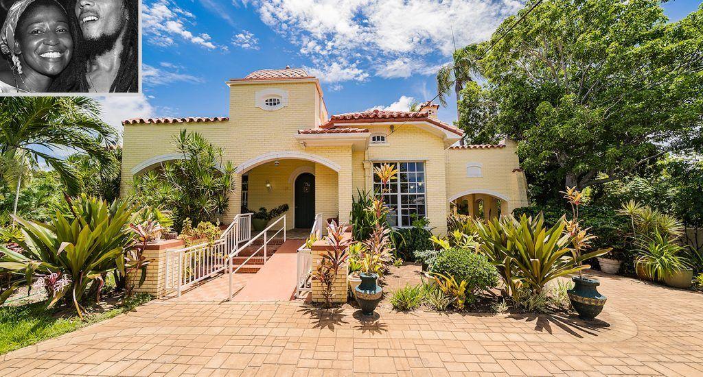 Rita Marley, la viuda de Bob Marley pone a la venta su casa en Bahamas
