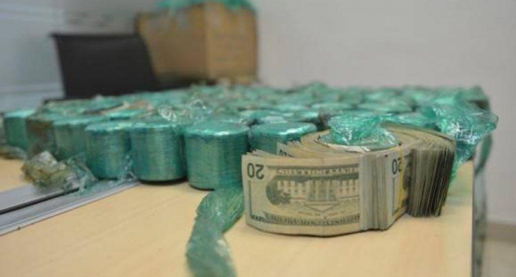 Aduanas confisca más de 4.3 millones de dólares en menos de 10 días. Fuente extena.