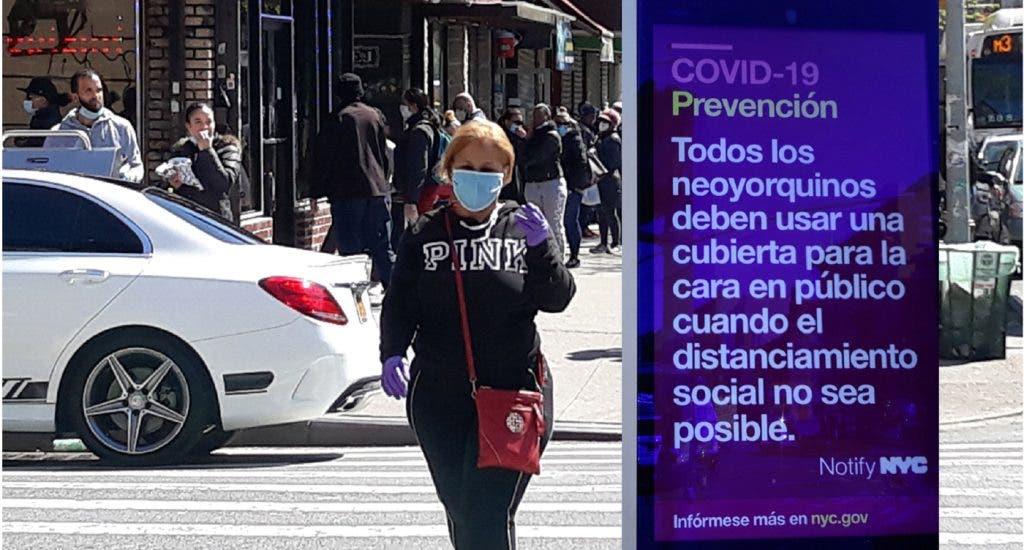 Barrio dominicano de NY con la tasa más alta de positivos COVID-19. FUENTE EXTERNA.