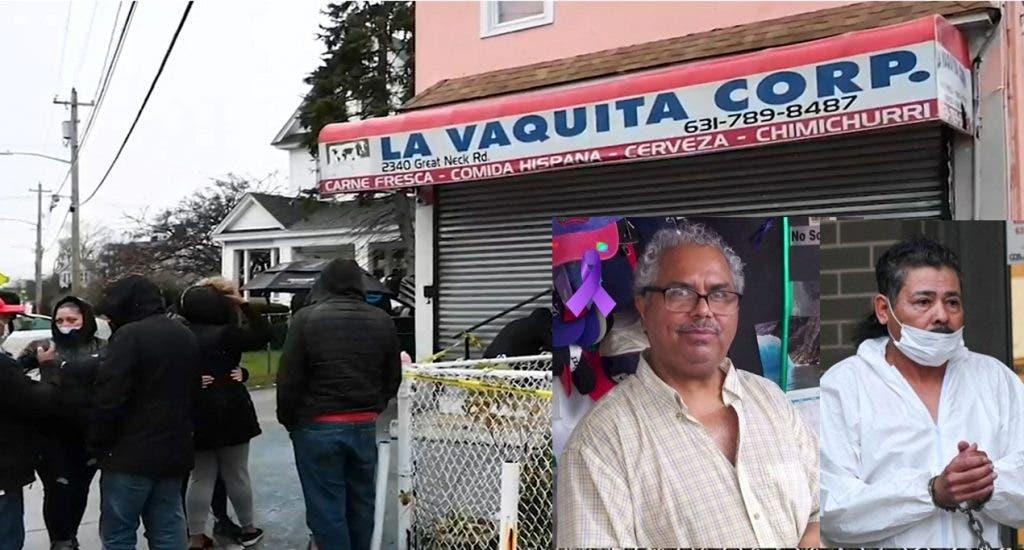 NUEVA YORK._ E bodeguero dominicano Bolívar Rodríguez murió ayer lunes después de ser baleado por Dionisio Calderón Oseguera (esposado) dentro de su bodega en Long Island. (Fuente externa)
