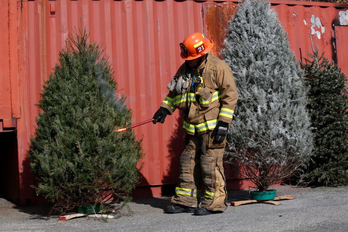 Cuerpo de Bomberos confirma arbolito causó incendio que afectó a tres médicos. FUENTE EXTERNA. FOTO: simulacro. . (Aurelia Ventura/La Opinion