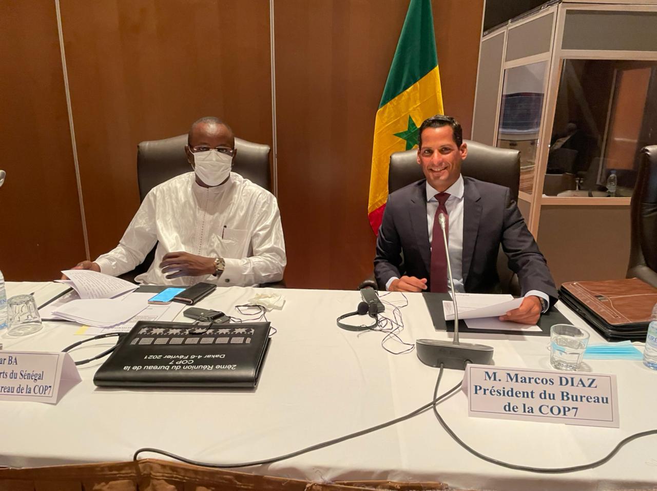 Marcos Díaz preside reunión para la Convención Internacional contra el Dopaje en el Deporte, celebrada en Senegal