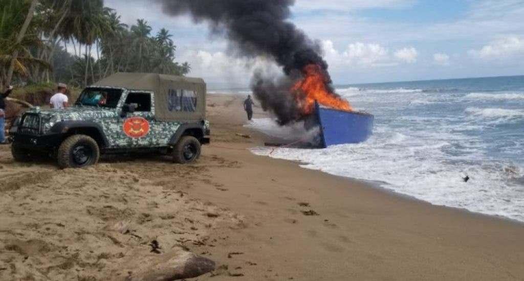 Frustran viaje ilegal a Puerto Rico en yola que saldría desde Nagua