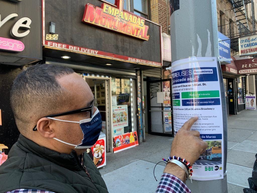 Dominicanos de NY preocupados con el cierre de la calle 181 para vehículos y taxis en Washington Heights